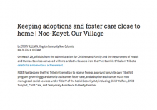 Keeping adoptions and foster care close to home
