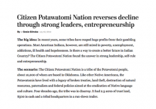 Citizen Potawatomi Nation reverses decline through strong leaders, entrepreneurship