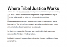 Where Tribal Justice Works