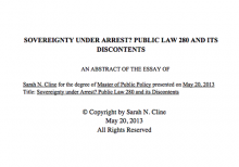 Sovereignty Under Arrest? Public Law 280 and Its Discontents