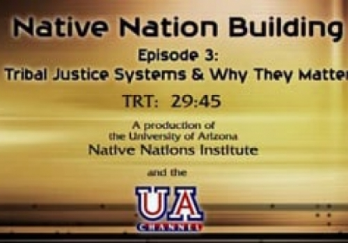 Segment 3: Why the Rule of Law and Tribal Justice Systems Matter