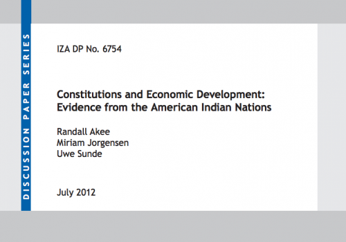 Constitutions and Economic Development: Evidence from the American Indian Nations