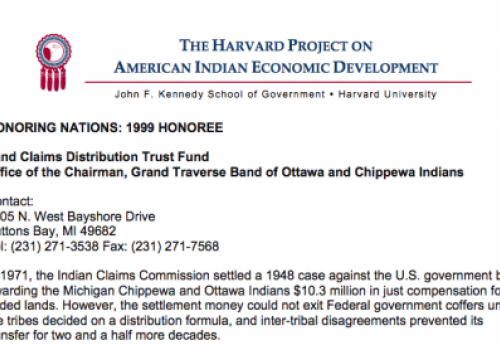 Grand Traverse Band's Land Claims Distribution Trust Fund