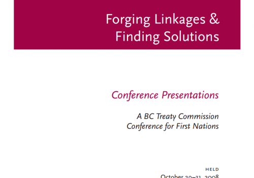 Rights, Governance, and the BC Treaty Process